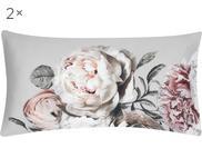 Povlak na polštář zbavlněného saténu s květinovým potiskem Blossom, 2ks