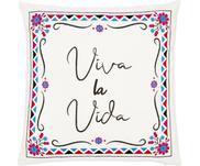 Barevný vyšívaný povlak na polštář Viva la Vida