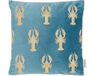 Vyšívaný sametový polštář Lobster, svýplní