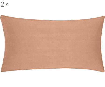 Bavlněný povlak na polštář s efektem soft-washed alemem Arlene, 2 ks