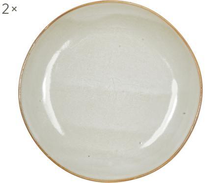 Ručně vyrobený snídaňový talíř z kameniny Thalia, 2 ks