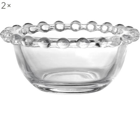 Malá skleněná miska Perles, 2 ks