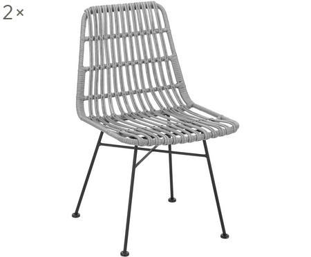 Polyratanová židle Costa, 2 ks