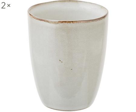 Ručně vyrobený pohárek z kameniny Thalia, 2 ks