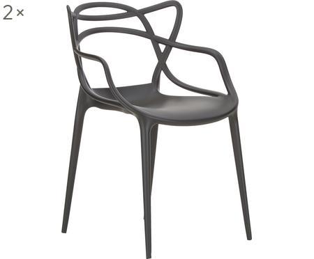 Stohovatelná židle spodručkami Masters, 2 ks