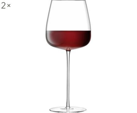 Ručně foukaná sklenice na červené víno Wine Culture, 2 ks