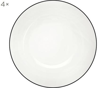 Dezertní talíř á table ligne noir, 4 ks