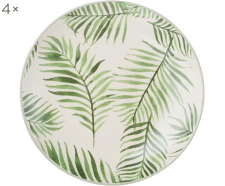 Snídaňový talíř s tropickým motivem Jade, 4 ks