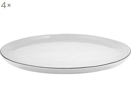 Ručně vyrobený talíř Salt, 4 ks