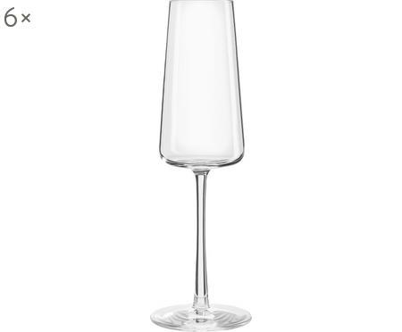 Křišťálová sklenice na sekt Power, 6 ks