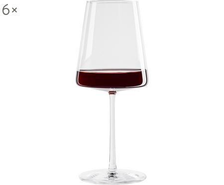 Křišťálová sklenice na červené víno Power, 6 ks