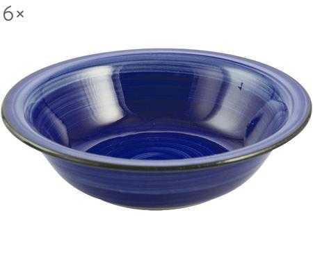 Ručně malovaný hluboký talíř Baita, 6 ks