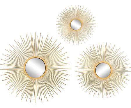 Sada nástěnných zrcadel Sun, 3 díly