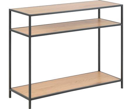 Konzolový stolek z dřeva a kovu Seaford