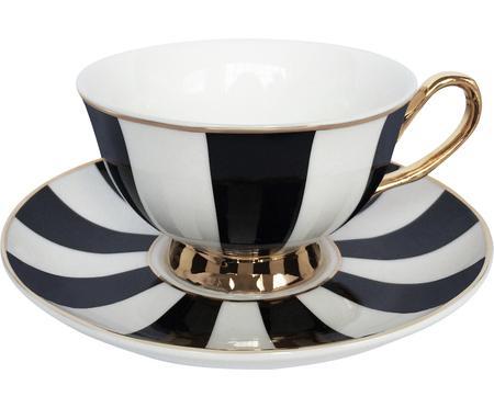 Čajový šálek z podšálkem Stripy, 2 díly