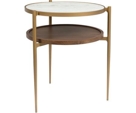 Kulatý odkládací stolek zimitace mramoru Bella