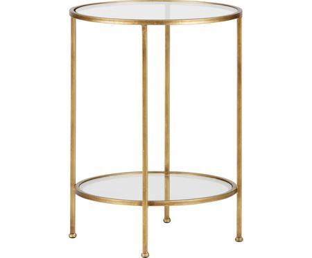 Skleněný odkládací stolek s antickou úpravou Goddess