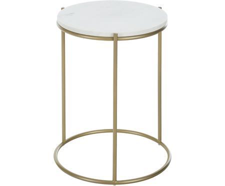 Kulatý mramorový odkládací stolek Ella