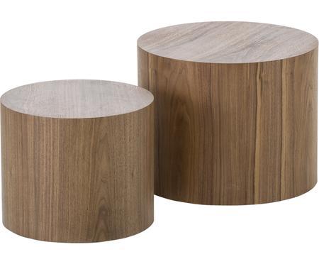 Sada dřevěných odkládacích stolků Dan, 2 díly