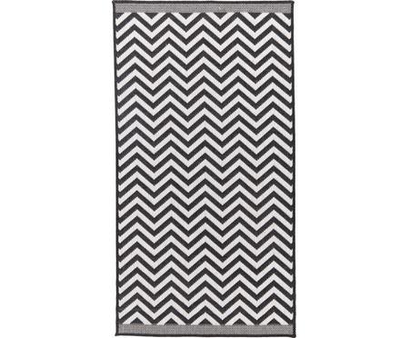 Oboustranný vnitřní a venkovní koberec s klikatým vzorem Palma