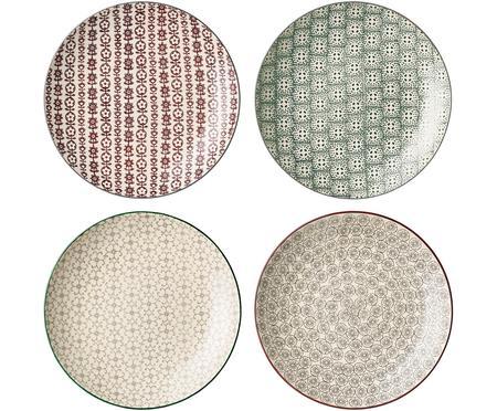 Sada mělkých talířů s jemným vzorem Karine, 4 díly