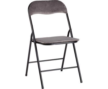 Sametová skládací židle Amal