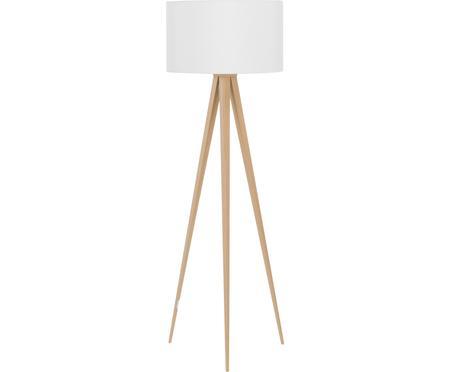Stojací lampa s dřevěnou podstavou Jake