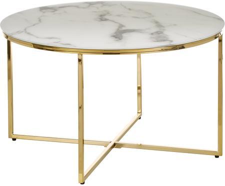 Konferenční stolek smramorovanou deskou Antigua