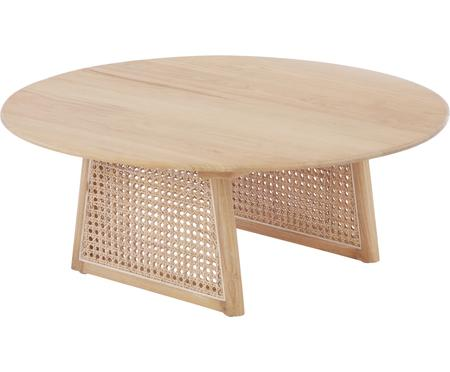 Kulatý konferenční stolek svídeňskou pleteninou Retro