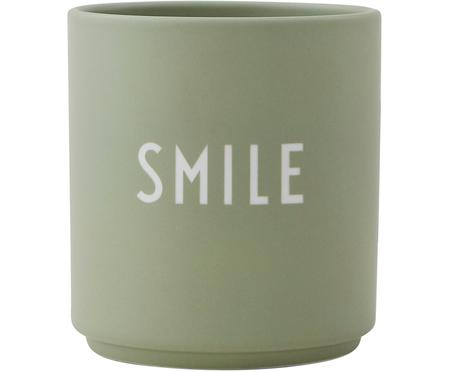 Designový pohárek s nápisem Favourite SMILE