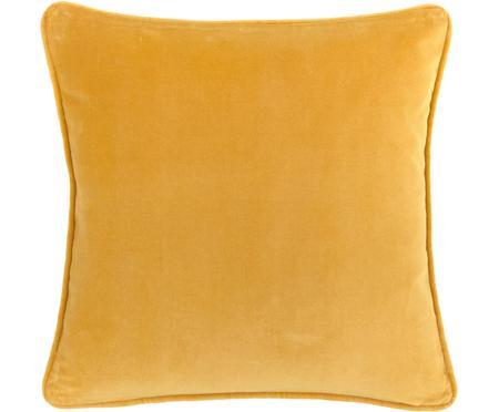 Jednobarevný sametový povlak na polštář Dana
