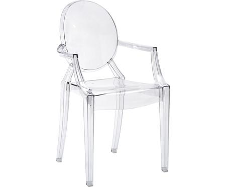 Průhledná židle spodručkami Ghost