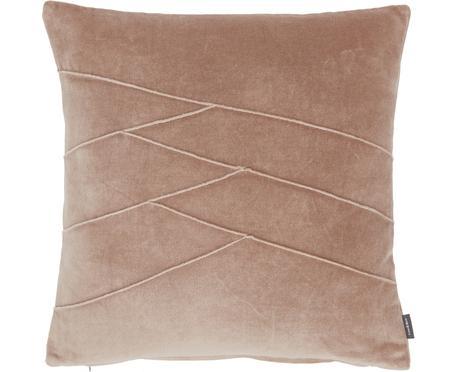 Sametový polštář se strukturovaným povrchem a se vzorem Pintuck, s výplní
