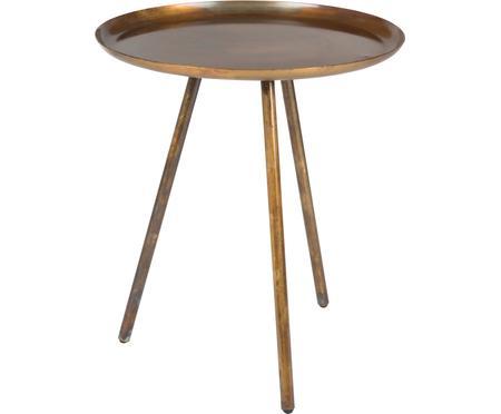 Kulatý odkládací stolek z kovu Frost
