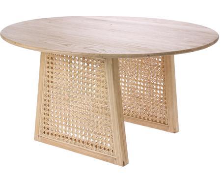 Kulatý konferenční stolek s vídeňskou pleteninou Retro