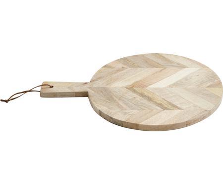 Prkénko z mangového dřeva Herringbone, Ø 32 cm