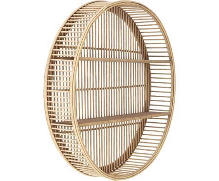 Kulatý bambusový nástěnný regál Bentra