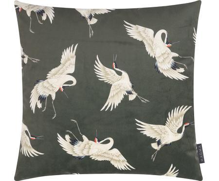Sametový povlak na polštář Crane