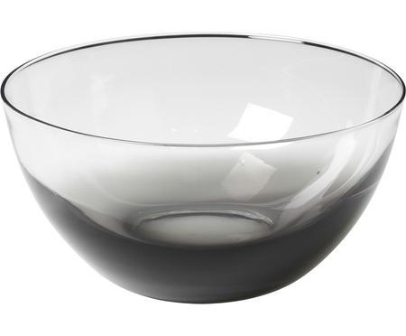 Ručně foukaná mísa ze skla Smoke, Ø 25 cm