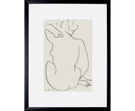 Zarámovaný digitální tisk Matisse: Nu Accroupi