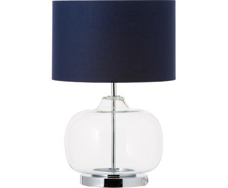 Stolní lampa ze skla abavlny Amelia