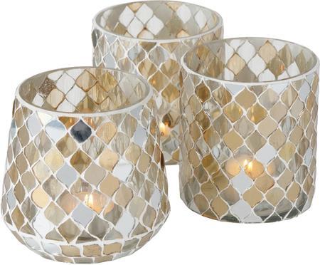 Sada svícnů na čajové svíčky Horya, 3díly