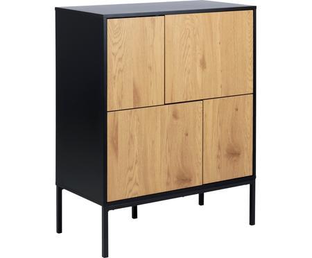 Skříňka z dřeva a kovu Seaford