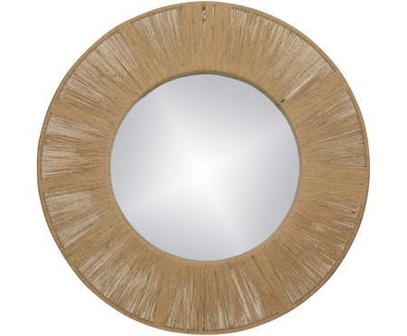 Kulaté nástěnné zrcadlo s rámem z přírodních vláken Finesse