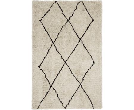 Ručně všívaný načechraný koberec s vysokým vlasem Nouria