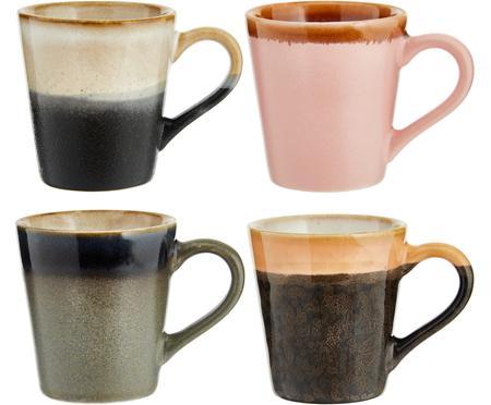 Sada ručně vyrobených šálků na espresso v retro stylu 70's, 4 díly