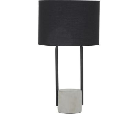 Velká stolní lampa sbetonovou podstavou Pipero