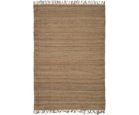 Ručně tkaný jutový koberec s třásněmi Naturals