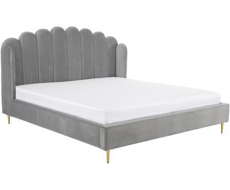 Sametová čalouněná postel Glamour