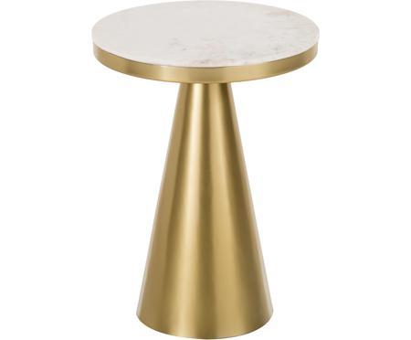 Kulatý mramorový odkládací stolek Zelda